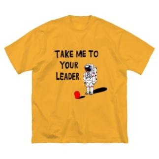 TAKE ME TO YUOR LEADER Big silhouette T-shirts