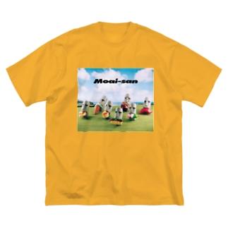 モアイさん Big silhouette T-shirts