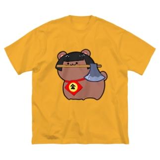まさかりくわえた金太郎 Big silhouette T-shirts
