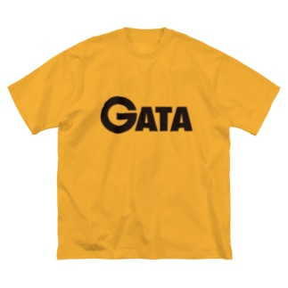 GATAロゴ【黒】 Big silhouette T-shirts