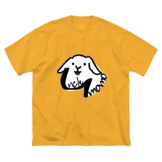 【uncle momo】ロゴ Big Silhouette T-Shirt