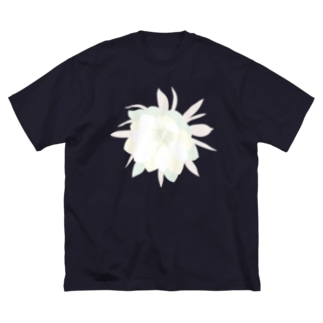 月下美人 Big silhouette T-shirts