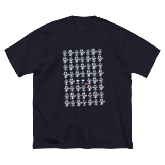 へそまがりト[TRANSPARENT] Big silhouette T-shirts