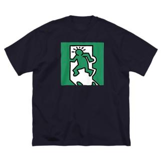 キースへリング風非常口 Big silhouette T-shirts