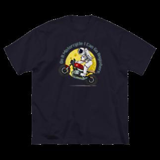 HIGEQLOの月まで行こうぜ Big silhouette T-shirts