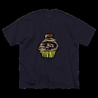 希鳳のモンブラン Big silhouette T-shirts