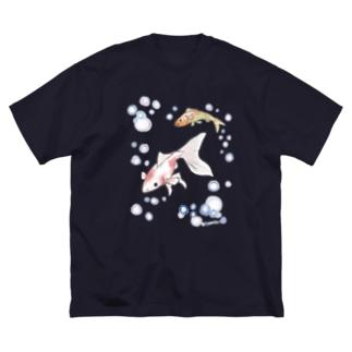 金魚さん Big silhouette T-shirts