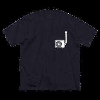 すとろべりーガムFactoryの壁付け室外機 カラー付きver. Big silhouette T-shirts