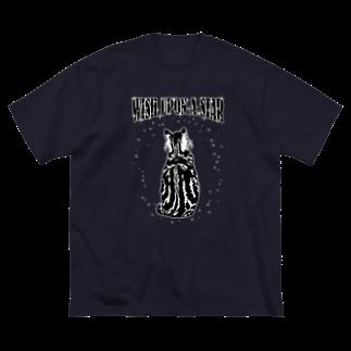 猫と釣り人のCAT_5_1W Big silhouette T-shirts