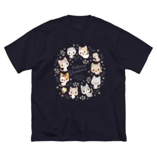 らくがき風-2019-ミモザ Big silhouette T-shirts