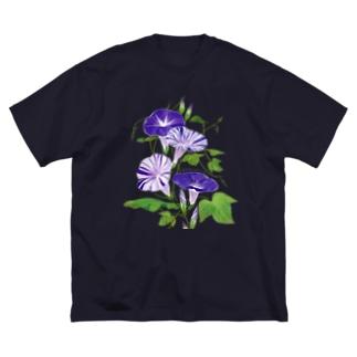 朝顔ブロッコリー Big silhouette T-shirts