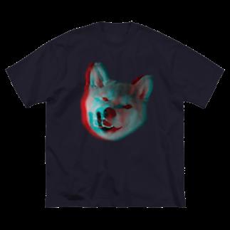 uzo76のアナグリフ犬 Big silhouette T-shirts