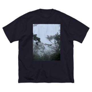霧の弥山 Big silhouette T-shirts