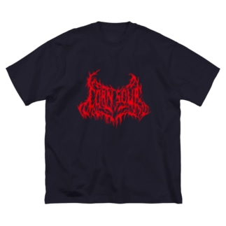 CORN SOUP (red) Big silhouette T-shirts