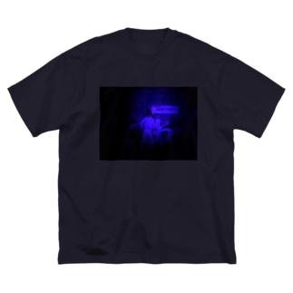 A Clockwork Friend -Blue- Big silhouette T-shirts