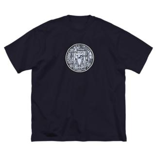 コックピット・柴犬(白柴) Big silhouette T-shirts