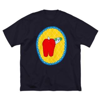 ふりむきわんちゃん Big silhouette T-shirts