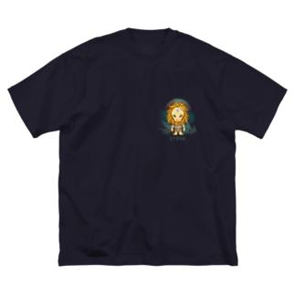 Lyran(リラ星人) Big silhouette T-shirts