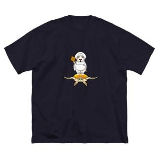 海行かば(しあわせ) Big silhouette T-shirts