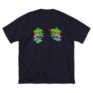 ゆるスカ パームツリー 180 Big silhouette T-shirts