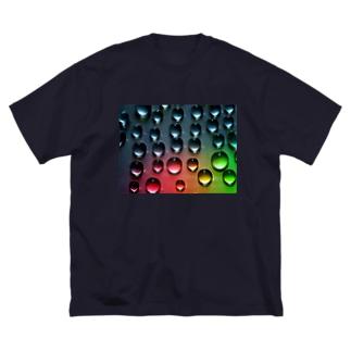水滴ドッド Big silhouette T-shirts