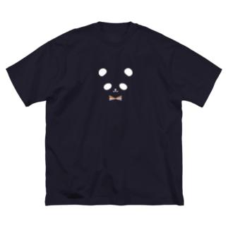 ヒフミ ヨイのカラフル蝶ネクタイ パンダ(白目) Big silhouette T-shirts