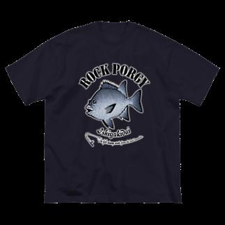 猫と釣り人のISHIGAKIDAI_6_C Big silhouette T-shirts