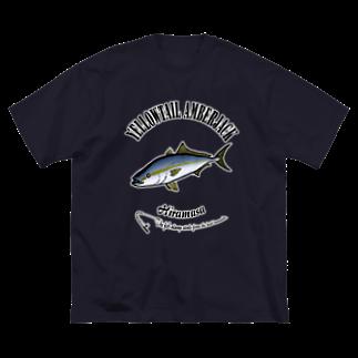 猫と釣り人のHIRAMASA_6_C Big silhouette T-shirts
