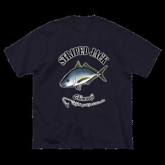 猫と釣り人のSHIMAAJI_6_C Big silhouette T-shirts
