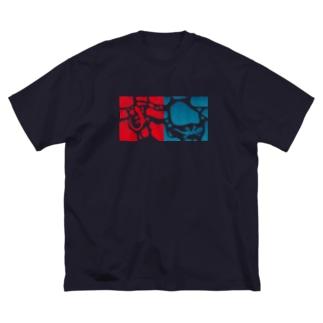 ヤモリのジョンとマリー Big silhouette T-shirts