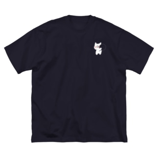 素材の色を楽しむぷりねこちゃん Big Silhouette T-Shirt