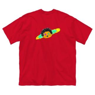 ミセス・サターン Big silhouette T-shirts