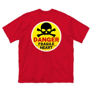 FRAGILE HEART -yellow-  Big silhouette T-shirts