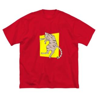 ぐっすり猫 Big silhouette T-shirts