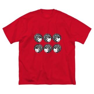 転がる他人生首ちゃんたち。 Big silhouette T-shirts