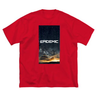 EPIDEMICのEPIDEMIC night sky Big silhouette T-shirts