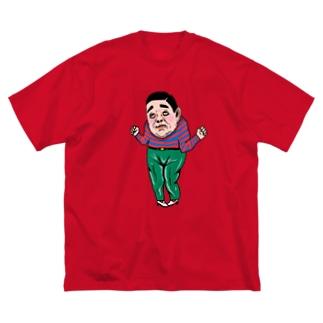 マンダムくんとマンダムさん Big silhouette T-shirts