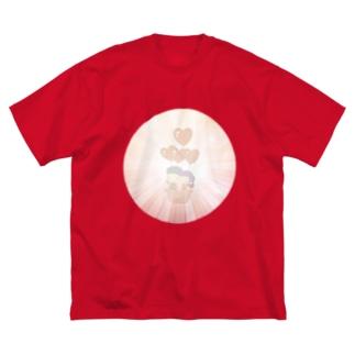かけおち Big silhouette T-shirts
