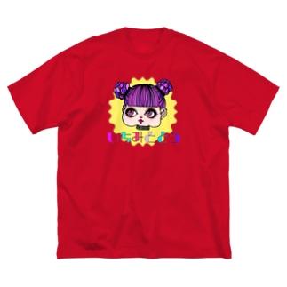 夢団子ピンクちゃん Big silhouette T-shirts