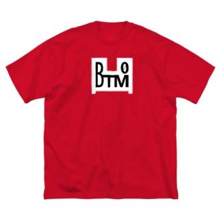 BTM-WHITE Big silhouette T-shirts
