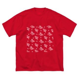 KOMAINU-05T Big silhouette T-shirts