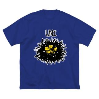 ウニ Big silhouette T-shirts