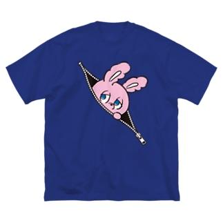Zipper (Color) Big silhouette T-shirts