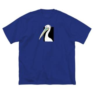 モモイロペリカン Big silhouette T-shirts