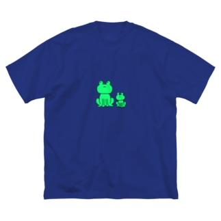 みどりかえる Big silhouette T-shirts