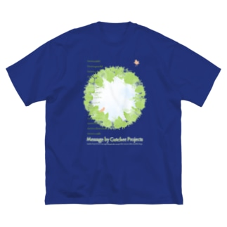 Gutchee ProjectsのGreen message_tsc01 Big silhouette T-shirts