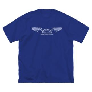 mawwwww.com   design projectの羽根つき餃子 ホワイト Big silhouette T-shirts