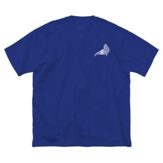 カリフォルニアアシカ白+ Big silhouette T-shirts