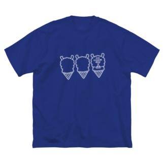 パカパカアイスクリーム Big silhouette T-shirts