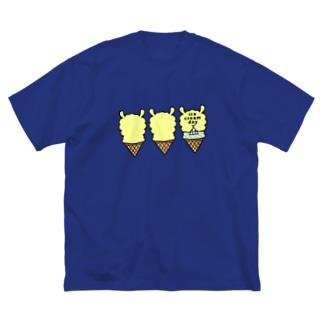 塩分過多郎のパカパカアイスクリーム Big silhouette T-shirts